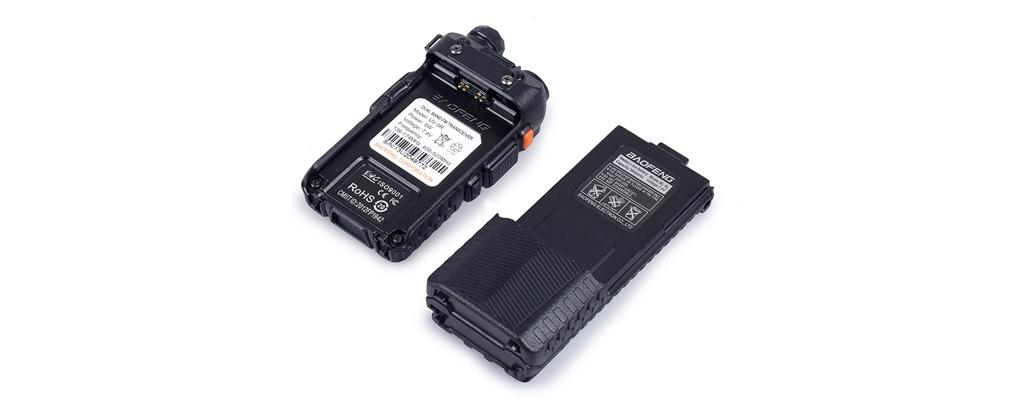 АКБ UV-5R (3800) – Емкость аккумулятора составляет 3800 мАч